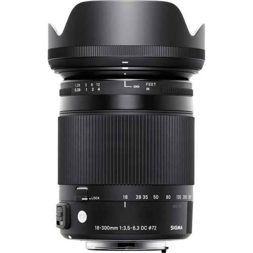Sigma 18-300mm f/3.5-6.3 DC Macro OS HSM Contemporary Lens for N