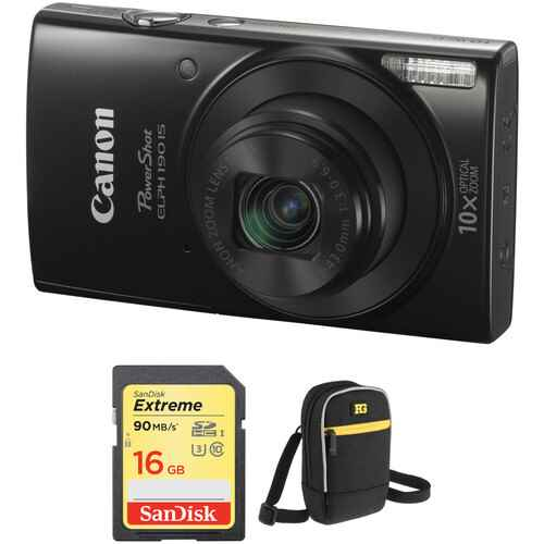 Canon PowerShot ELPH 190 IS Digital Camera with Accessory Kit (B